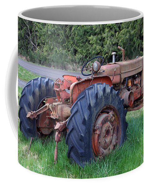 Tractor Coffee Mug featuring the photograph Retired Tractor by Hugh Carino