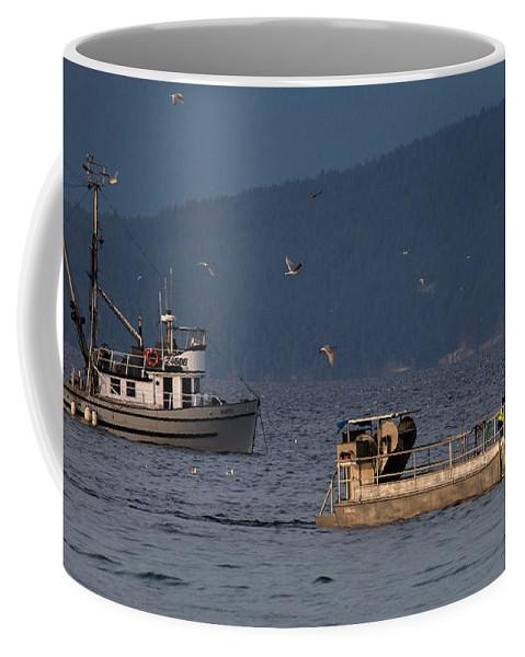 Marinet Coffee Mug featuring the photograph Retrieval by Randy Hall