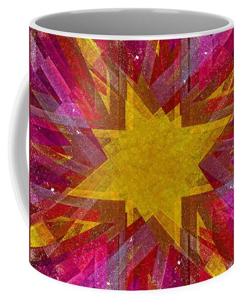 Christmas Coffee Mug featuring the digital art Retro Explosion 3 by Steve Ball