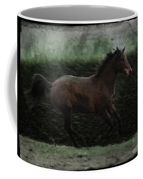 Horse Coffee Mug featuring the photograph Retro Horse by Angel Ciesniarska