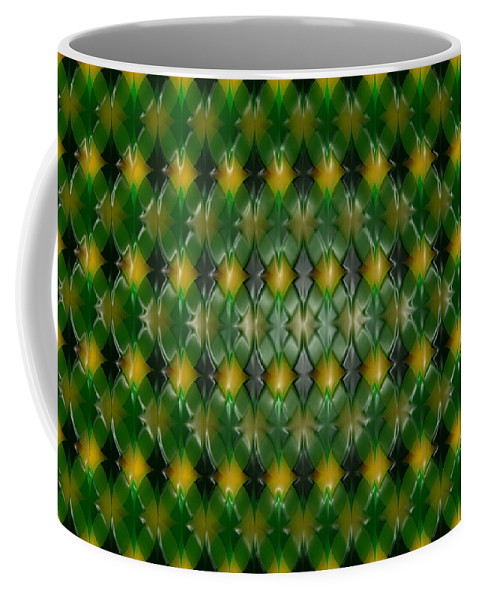 Repeating Coffee Mug featuring the digital art Pattern Plastic by Steve Ball