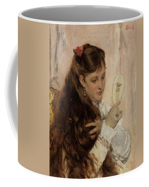Alfred Stevens Coffee Mug featuring the digital art Reveil by Alfred Stevens