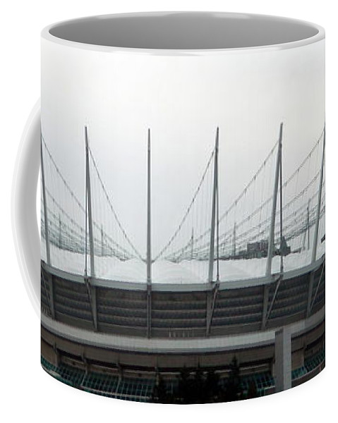 Bc Place Coffee Mug featuring the photograph Revised Old Bc Place by Nicki Bennett