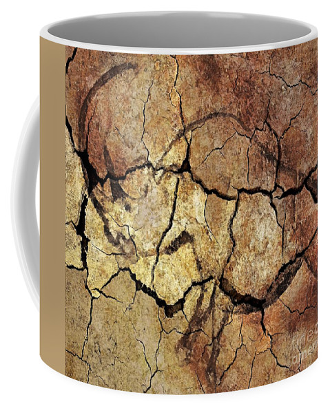 Cave Coffee Mug featuring the digital art Rhinoceros From Chauve Cave by Dragica Micki Fortuna