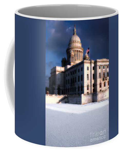 Rhode Island Coffee Mug featuring the photograph Ri State Capitol 1 by Mike Nellums