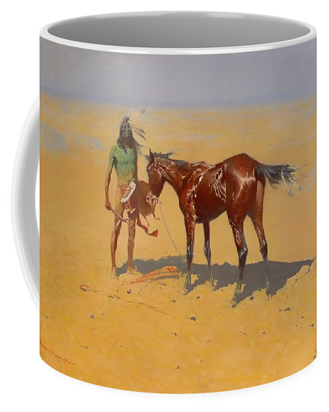 Indian Coffee Mug featuring the painting Ridden Down by Mountain Dreams