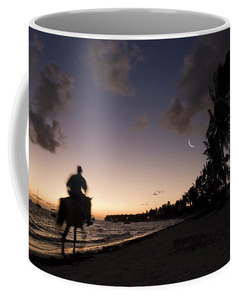 3scape Coffee Mug featuring the photograph Riding On The Beach by Adam Romanowicz