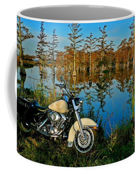 Harley Coffee Mug featuring the photograph Riding The Mississippi Delta by Eric Albright