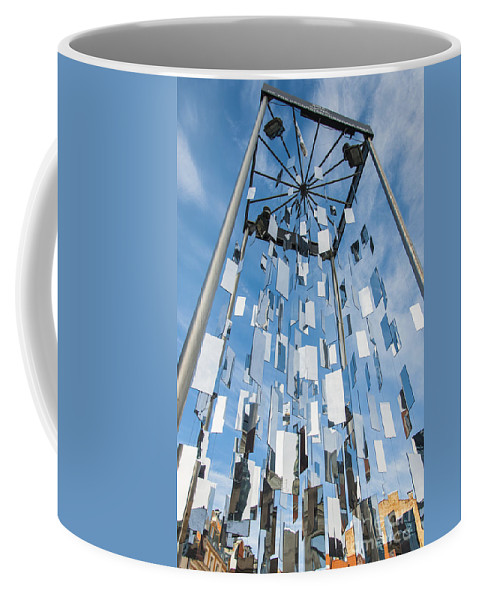 Detail Coffee Mug featuring the photograph Riga Monument To Christmas Trees by Antony McAulay