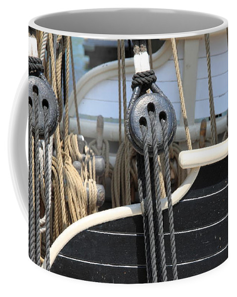 Rope Coffee Mug featuring the photograph Rigging by Henrik Lehnerer