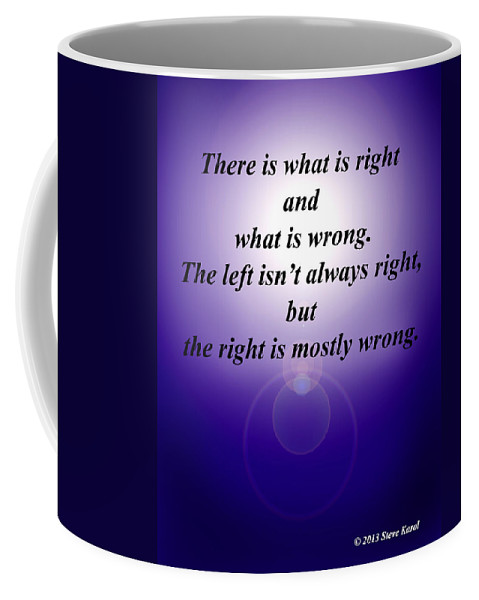 Politics Coffee Mug featuring the digital art Right And Wrong by Steve Karol