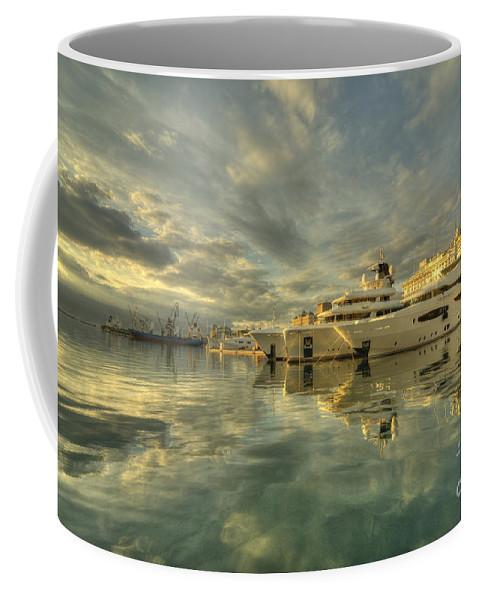 Rijeka Coffee Mug featuring the photograph Rijeka Yachts by Rob Hawkins