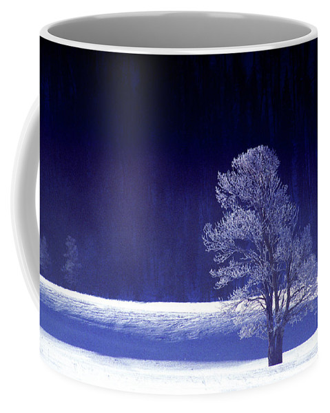 North America Coffee Mug featuring the photograph Rime Ice Covered Tree Yellowstone National Park Wyoming by Dave Welling