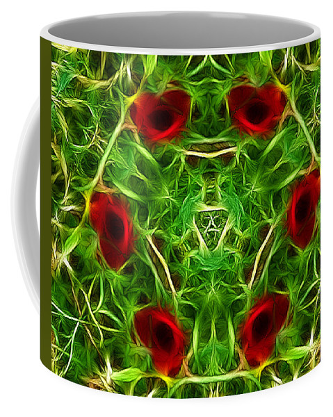 Poppies Coffee Mug featuring the photograph Ring Of Poppies by Lynn Bolt