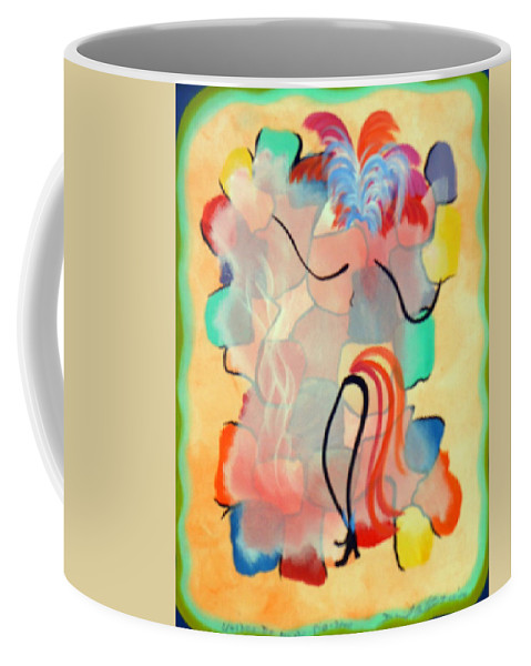 Dancer Dance Samba Colorful Movement Rio Carnaval Rythum Music Party Fun Feathers Brazil Celebrating Celebrate Coffee Mug featuring the painting Rio Carnaval 2000 by David Mintz
