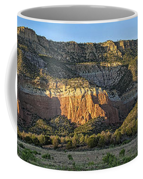 New Mexico Coffee Mug featuring the photograph Rio Chama Valley by Steven Ralser
