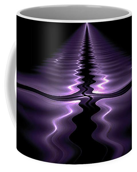 Fractal Coffee Mug featuring the digital art Ripples by Gary Blackman