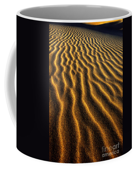 North America Coffee Mug featuring the photograph Ripples Oregon Dunes National Recreation Area by Dave Welling