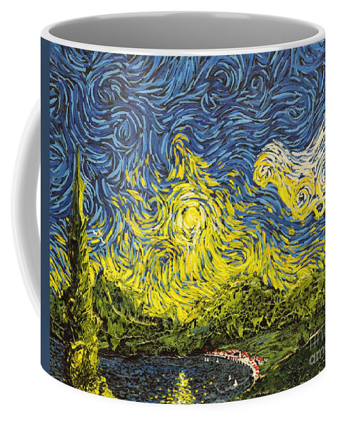 Landscape Coffee Mug featuring the painting Rising Above by Stefan Duncan