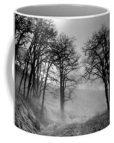 Bald Hills Coffee Mug featuring the photograph Rising Mists In The Bald Hills by Greg Nyquist