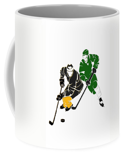 Bruins Coffee Mug featuring the photograph Rivalries Bruins And Whalers by  Joe Hamilton 44aceb610910