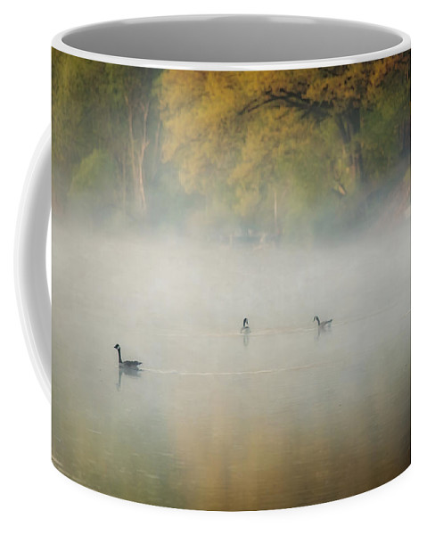 River Coffee Mug featuring the photograph River At Sunrise by Everet Regal