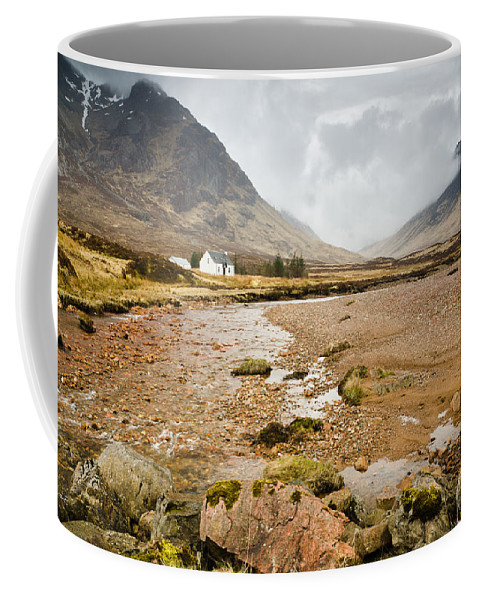 Altnafeadh Coffee Mug featuring the photograph River Coupall In Glen Coe by David Head
