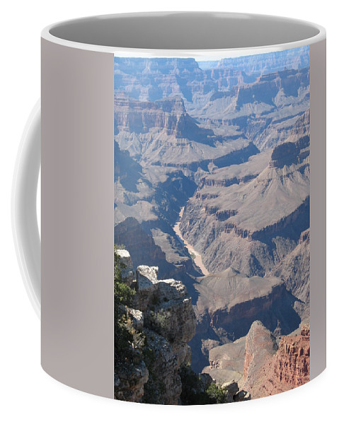 Canyon Coffee Mug featuring the photograph River Deep - Mountain High - Grand Canyon And Colorado River by Christiane Schulze Art And Photography