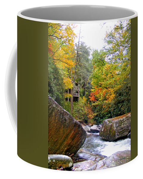Waterfall Coffee Mug featuring the photograph River House In The Fall by Duane McCullough