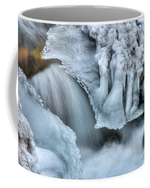 River Coffee Mug featuring the photograph River Ice by Chad Dutson