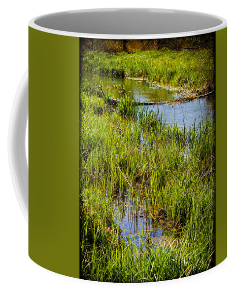 Canvas Coffee Mug featuring the photograph River Kennet Marshes by Mark Llewellyn