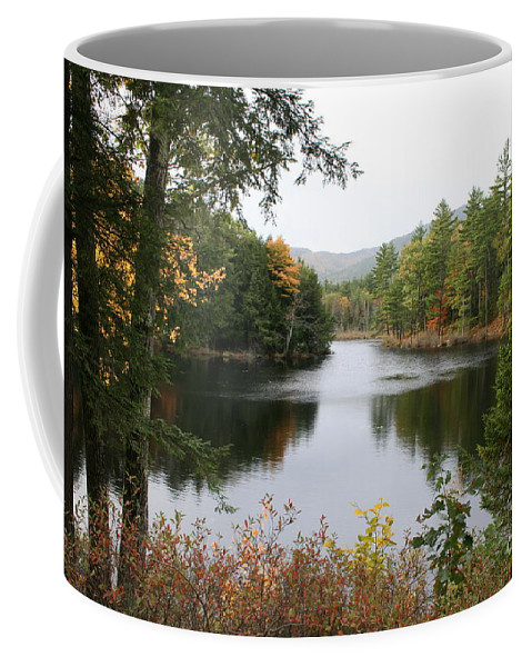 River Coffee Mug featuring the photograph River North Conway by Christiane Schulze Art And Photography