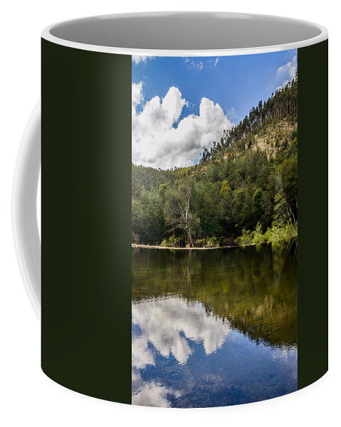 River Coffee Mug featuring the photograph River Reflections I by Marco Oliveira