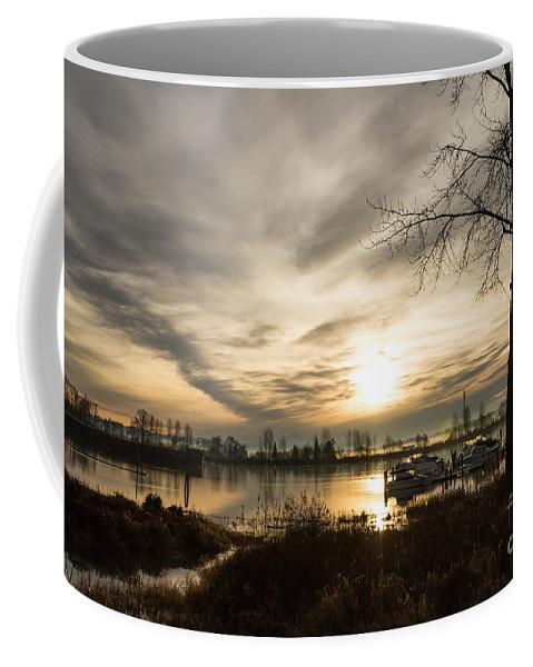 Sunrise Coffee Mug featuring the photograph River Sunrise by Brigitte Mueller