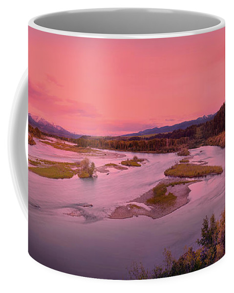 River Coffee Mug featuring the photograph River Sunset by Leland D Howard