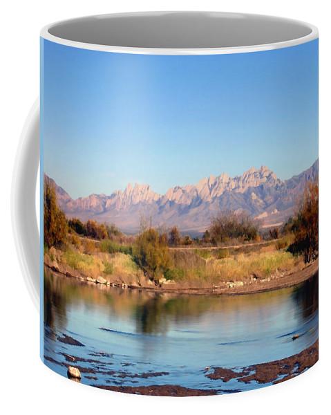 River Coffee Mug featuring the photograph River View Mesilla by Kurt Van Wagner