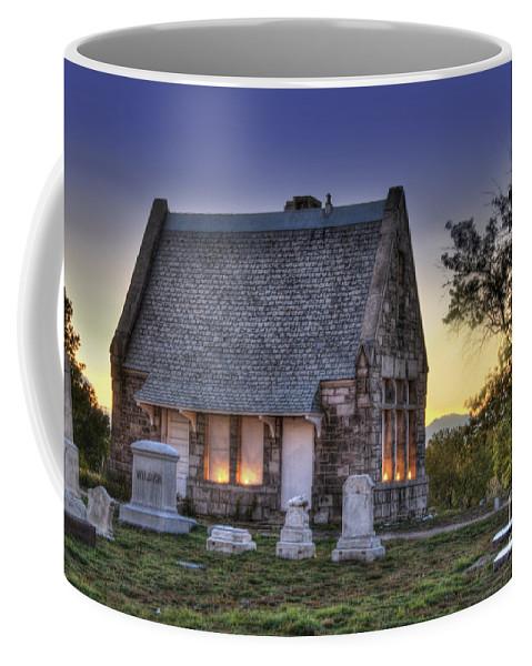 5201 Brighton Boulevard Coffee Mug featuring the photograph Riverside Cemetery by Juli Scalzi