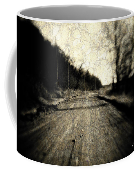 B&w Coffee Mug featuring the photograph Road Of The Past by Timothy Bischoff