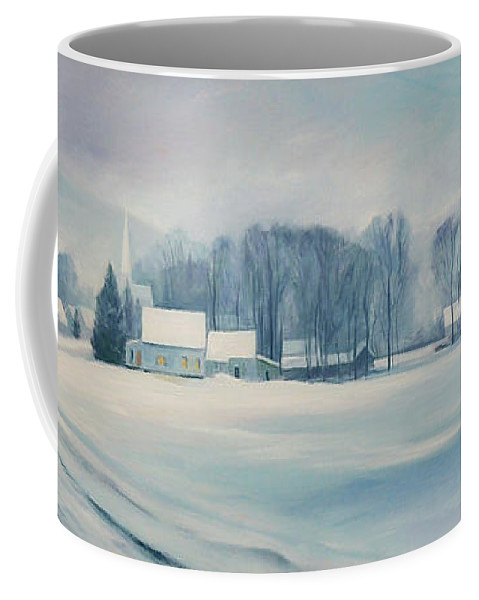 Vermont Coffee Mug featuring the painting Road to Felchville Vermont by Nancy Griswold