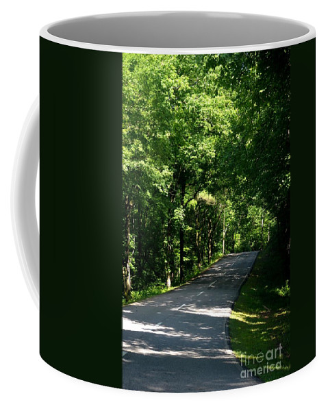 Road To Nature Coffee Mug featuring the photograph Road To Nature by Maria Urso