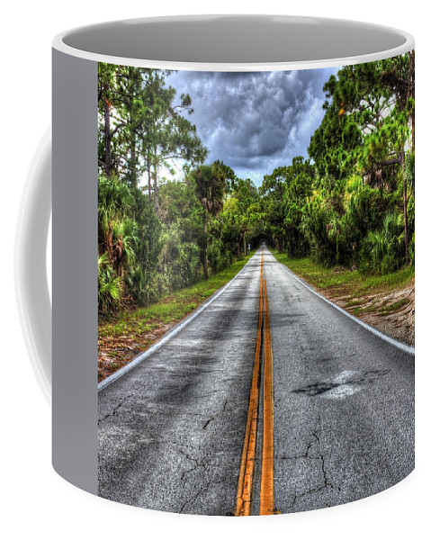 Infinte Coffee Mug featuring the photograph Road To No Where by Tyson Kinnison