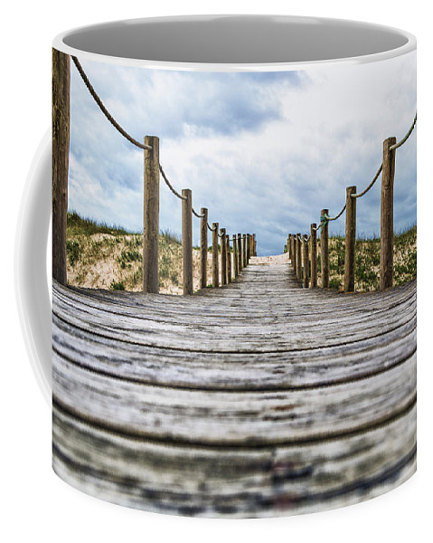 Travel Coffee Mug featuring the photograph Road To The Dunes by Paulo Goncalves