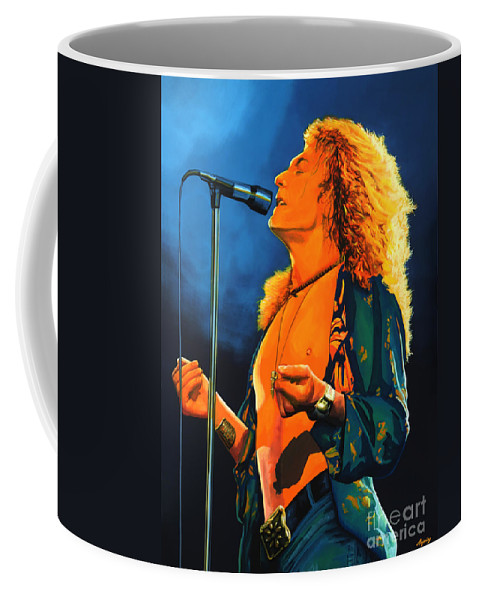 Robert Plant Coffee Mug featuring the painting Robert Plant by Paul Meijering