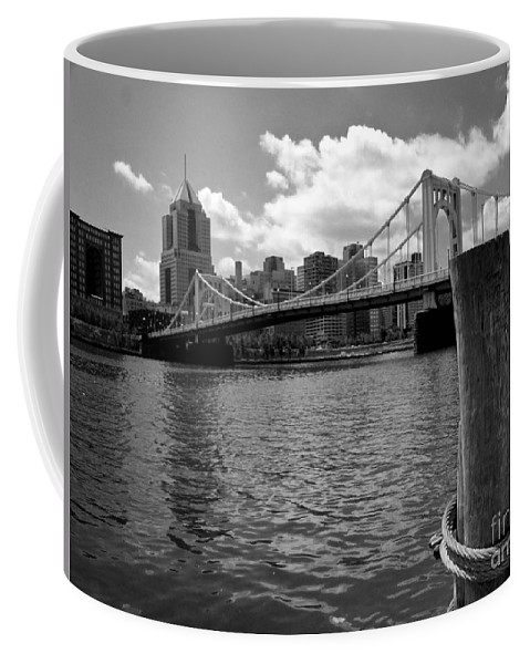 6th Street Bridge Coffee Mug featuring the photograph Roberto Clemente Bridge Pittsburgh by Amy Cicconi