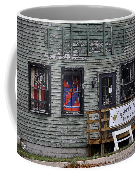 Dilapidated Coffee Mug featuring the photograph Robin's Nest Store In Autumn Michigan Usa by Sally Rockefeller