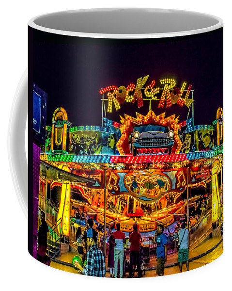 Amusment Coffee Mug featuring the photograph Rock And Roll On The Boardwalk by Nick Zelinsky