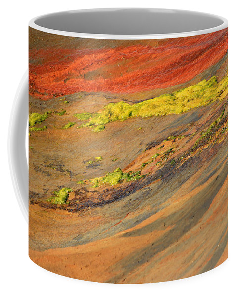 Orange Coffee Mug featuring the photograph Rock Art by Kris Hiemstra