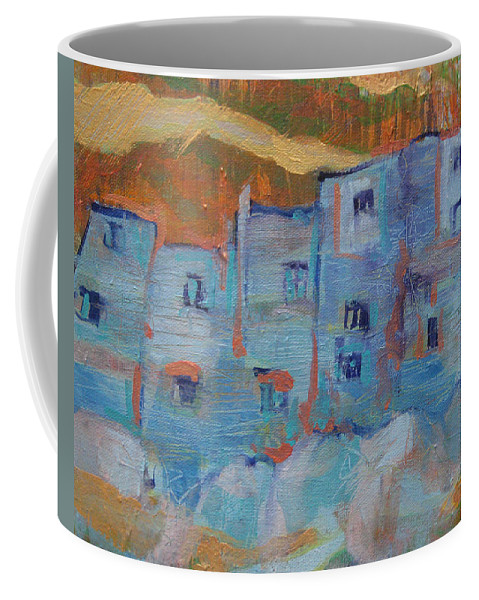 Italy Coffee Mug featuring the painting Rock City Abstract by Jeff Seaberg