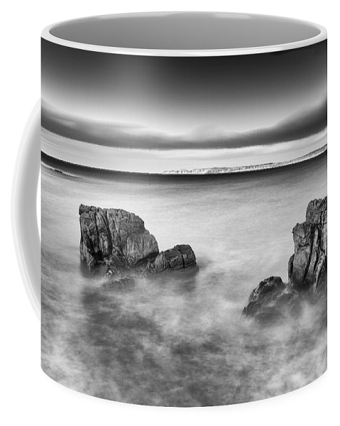 Pans Rock Coffee Mug featuring the photograph Ballycastle - Rock Face by Nigel R Bell