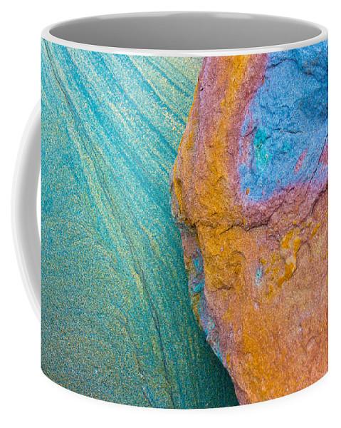 Stone Texture Coffee Mug featuring the photograph Rock Skin by Edgar Laureano